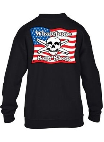 Logo KIDS AMERICAN FLAG CREW FLEECE