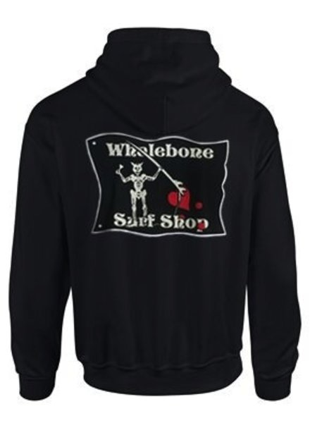 Whalebone Logo BLACKBEARD ZIP UP HOODIE