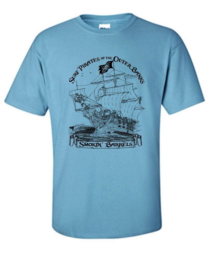 Logo SURF PIRATE SHIP PREMIUM CHEST PRINT SHORT SLEEVE TEE