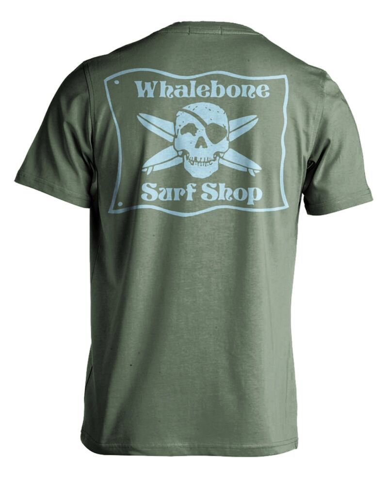 Whalebone Logo WHALEBONE SURF SHOP BLUE FLAG PREMIUM SHORT SLEEVE TEE