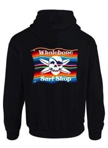 Whalebone Logo MEXICAN BLANKET PULLOVER HOODIE