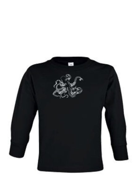 Whalebone Logo OCTOPUS FRONT PRINT TODDLER LONG SLEEVE TEE