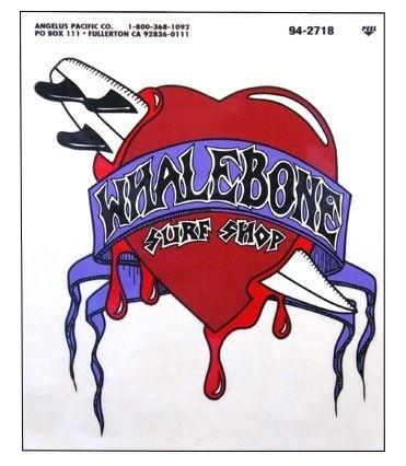 Whalebone Logo LOGO STICKER - BOARD THROUGH HEART