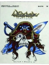 Whalebone Logo LOGO STICKER - GNARLY PIRATE