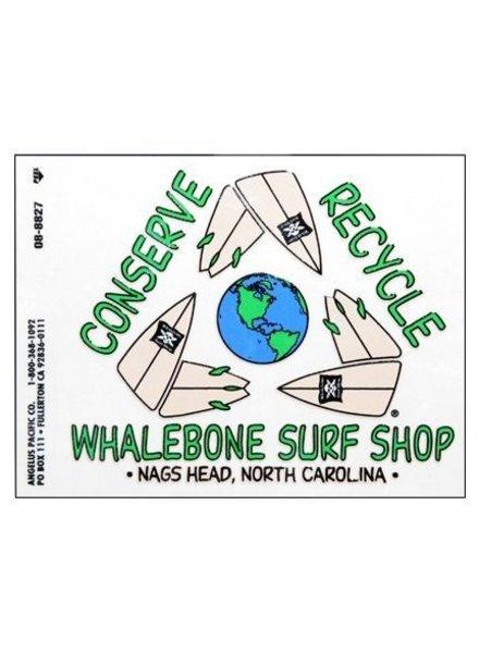 Whalebone Logo LOGO STICKER - REDUCE REUSE RECYCLE