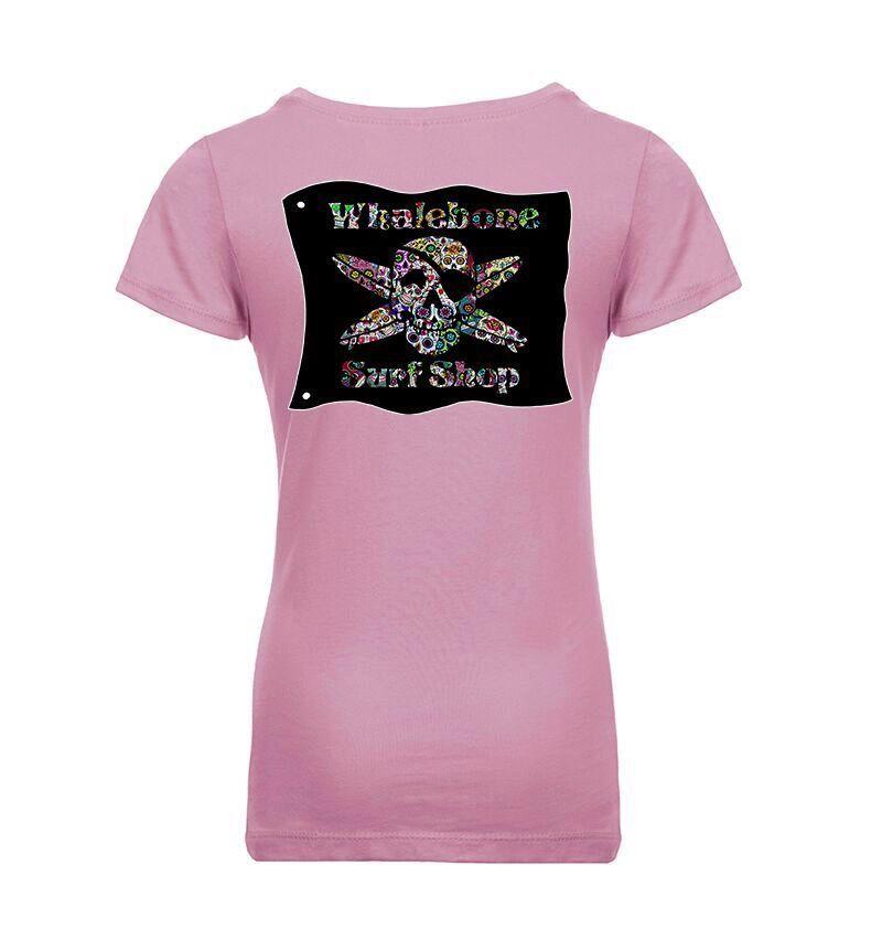 Whalebone Logo GIRLS SUGAR SKULL PRINCESS SHORT SLEEVE TEE