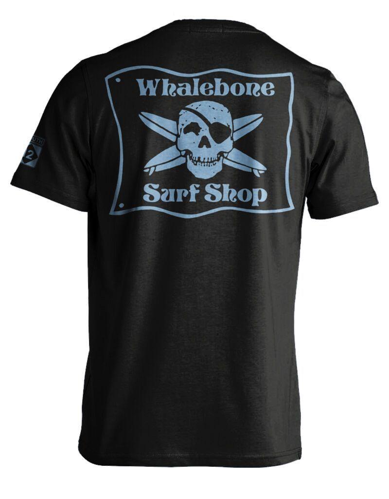 Whalebone Logo WHALEBONE SURF SHOP BLUE FLAG LOGO SHORT SLEEVE TEE