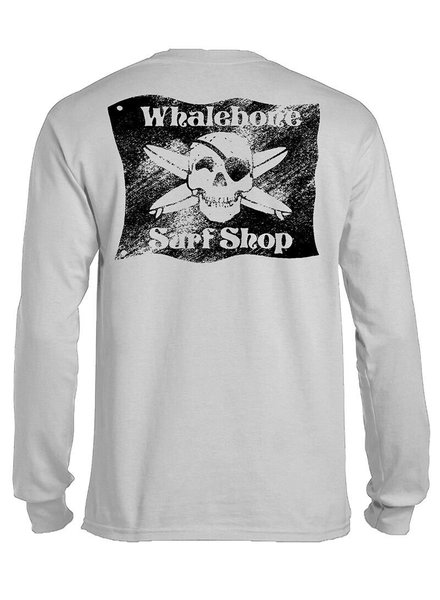 Whalebone Logo BLACK FLAG SANDED LONG SLEEVE TEE