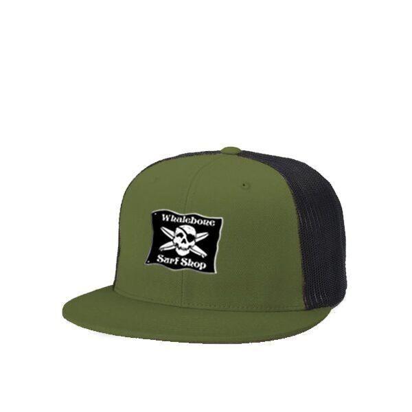 faa5e37dd6479 LOGO HAT - SNAP BACK FLAT BILL TRUCKER HAT - Whalebone Surf Shop