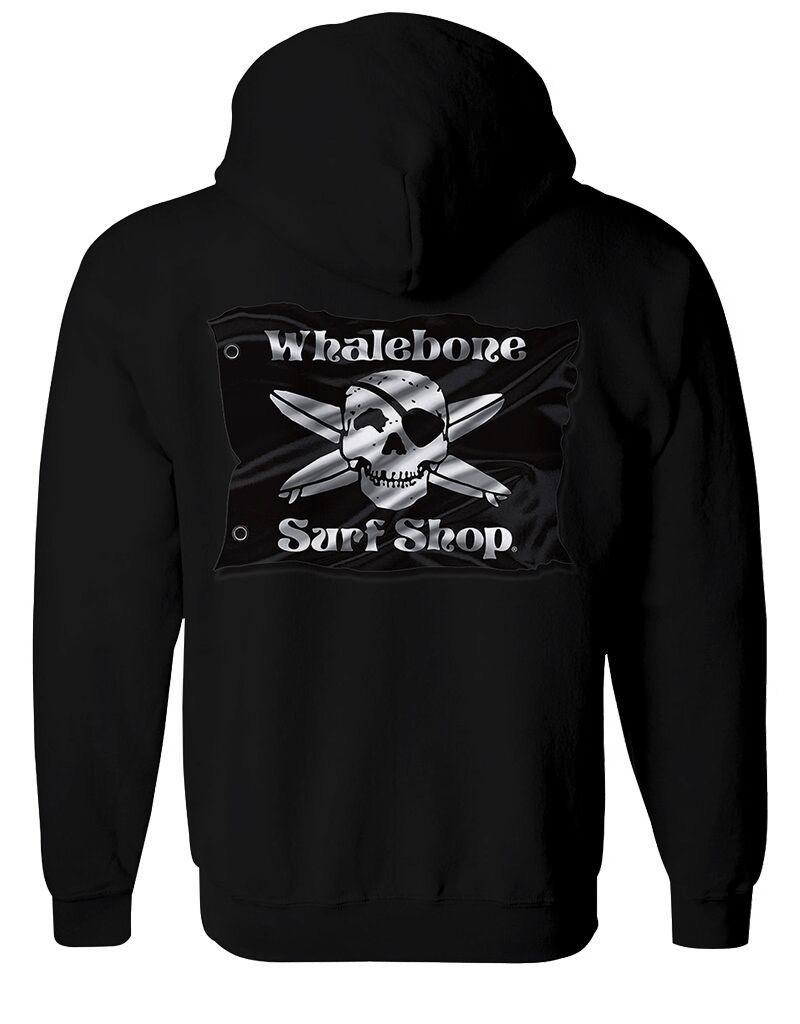 Whalebone Logo 3D FLAG PULLOVER HOODIE