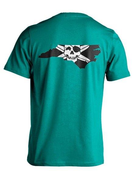 Whalebone Logo STATE OF NC OUTLINE LOGO SHORT SLEEVE TEE