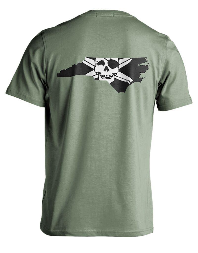 Whalebone Logo STATE OF NC OUTLINE PREMIUM LOGO SHORT SLEEVE TEE