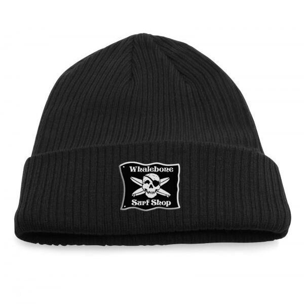 Whalebone Logo LOGO BEANIE - ORIGINAL KNIT RIBBED ROLL UP