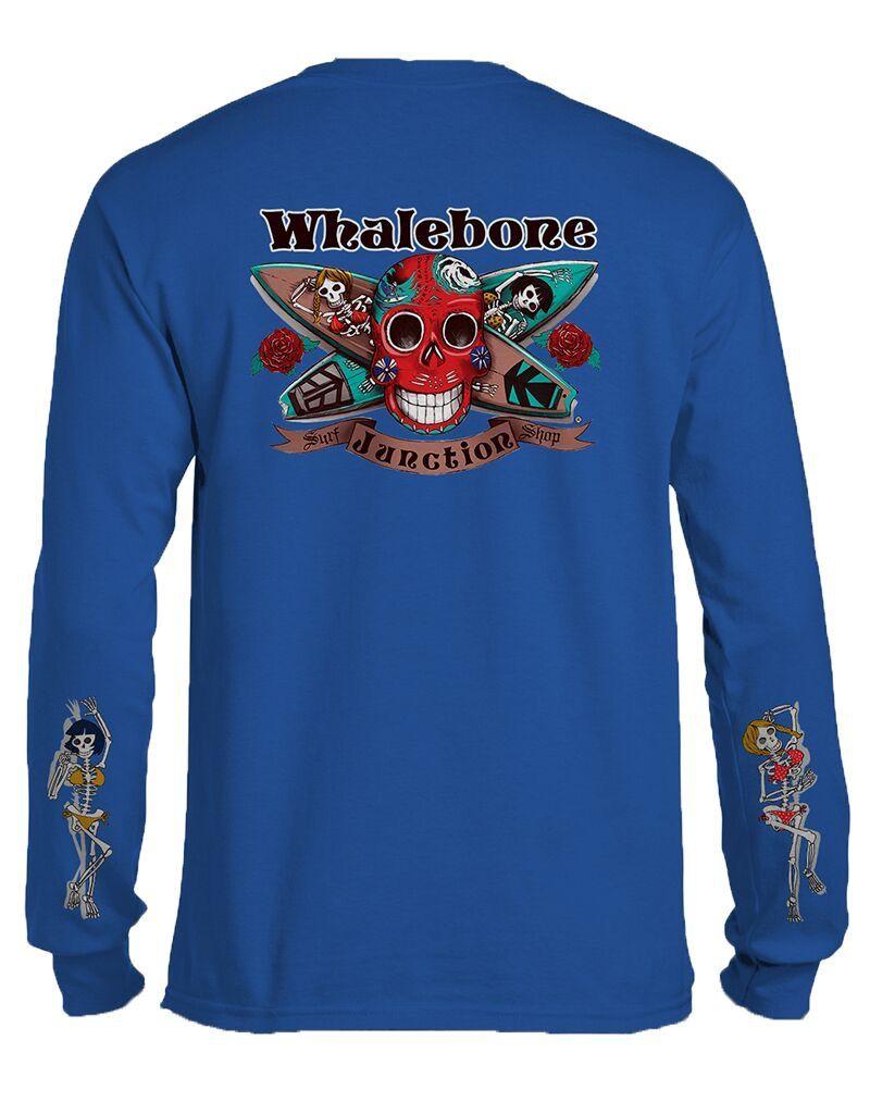 Whalebone Logo DAY OF THE DEAD LONG SLEEVE TEE WITH SLEEVE PRINT