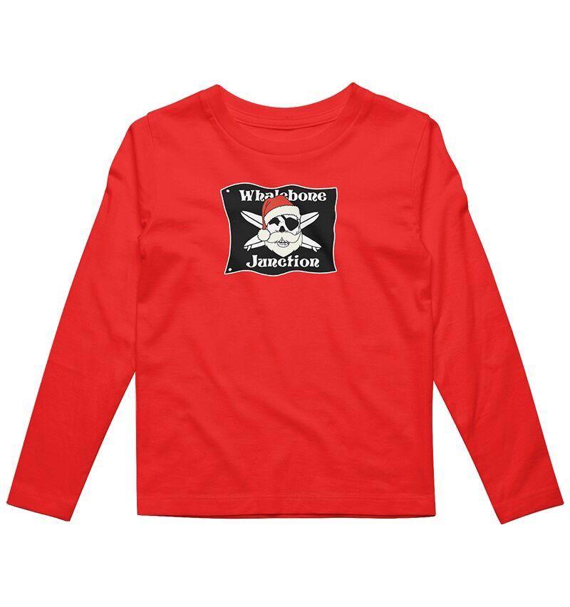 Whalebone Logo KIDS WHALEBONE SANTA LONG SLEEVE TEE