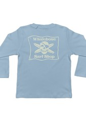 Whalebone Logo LITTLE KIDS WHALEBONE SURF SHOP GLOW LONG SLEEVE TEE