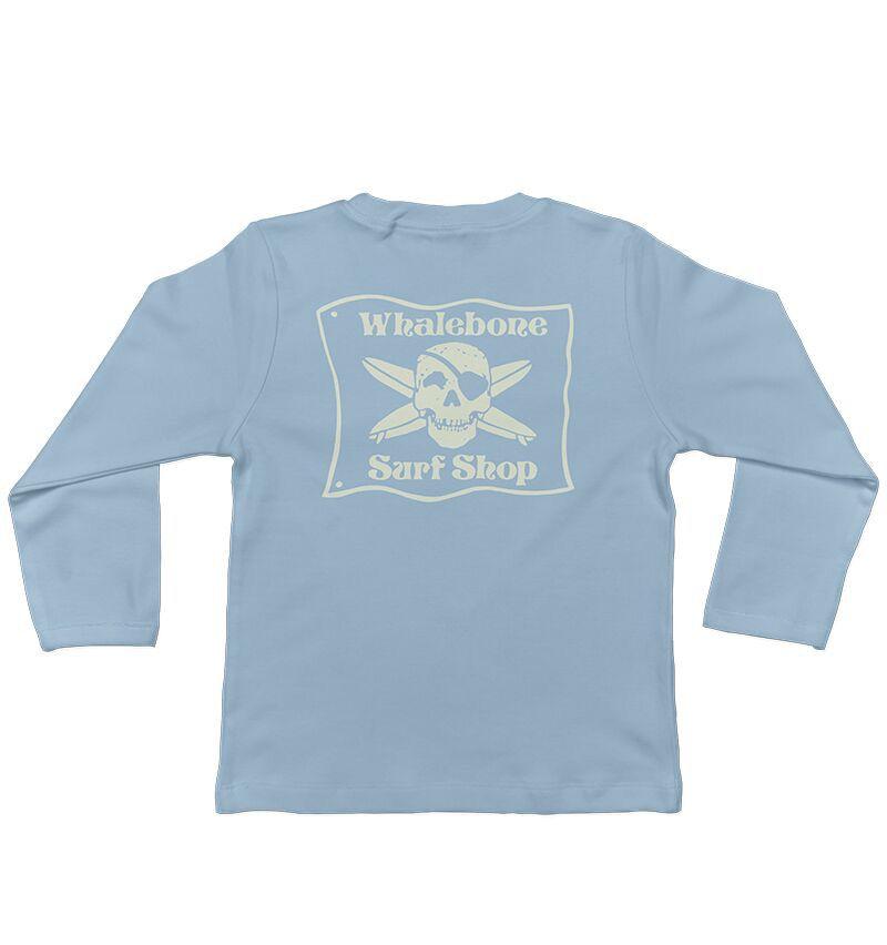 Whalebone Logo LITTLE KIDS WHALEBONE SURF SHOP GLOW LONG SLEEVE TEE