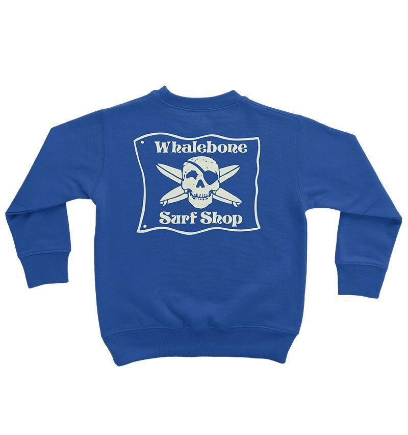 Whalebone Logo LITTLE KIDS WHALEBONE SURF SHOP GLOW CREW FLEECE