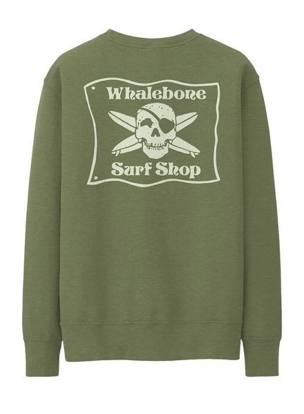 Whalebone Logo WHALEBONE SURF SHOP GLOW LOGO CREW FLEECE