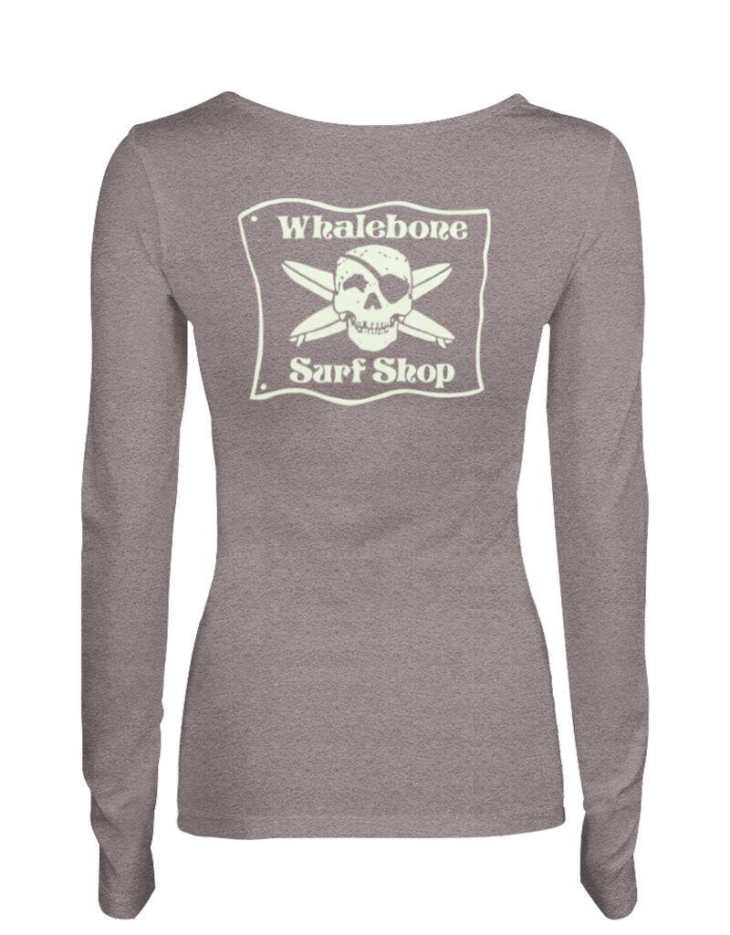 Whalebone Logo WOMENS WHALEBONE SURF SHOP GLOW LONG SLEEVE ALTERNATIVE TEE