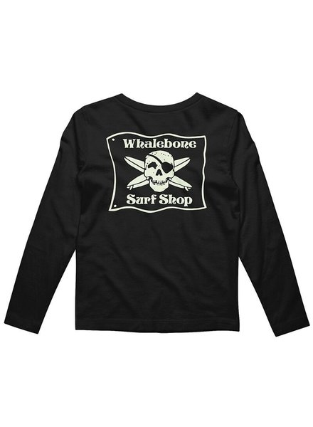 Whalebone Logo KIDS GLOW LONG SLEEVE TEE WITH SOUTH 12 LOGO ON SLEEVE