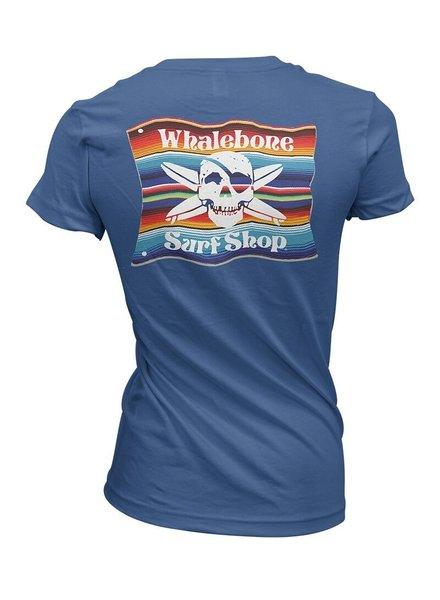 Whalebone Logo WOMENS MEXICAN BLANKET BOYFRIEND FIT SHORT SLEEVE TEE
