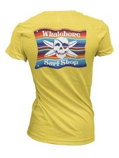 Whalebone Logo WOMENS MEXICAN BLANKET PREMIUM BLEND SHORT SLEEVE TEE