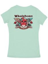 Whalebone Logo WOMENS DAY OF THE DEAD PREMIUM BLEND V-NECK SHORT SLEEVE TEE