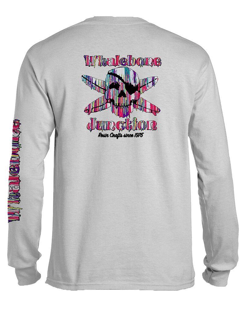 Whalebone Logo RESIN DRIP LONG SLEEVE TEE WITH SLEEVE PRINT