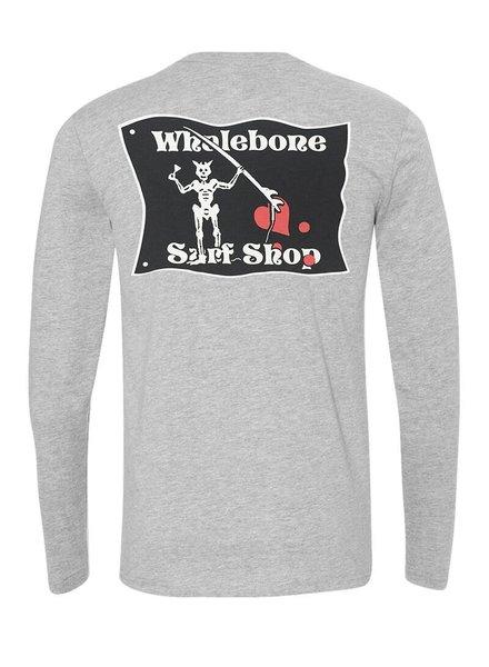 Whalebone Logo BLACKBEARD TRI-BLEND LONG SLEEVE TEE