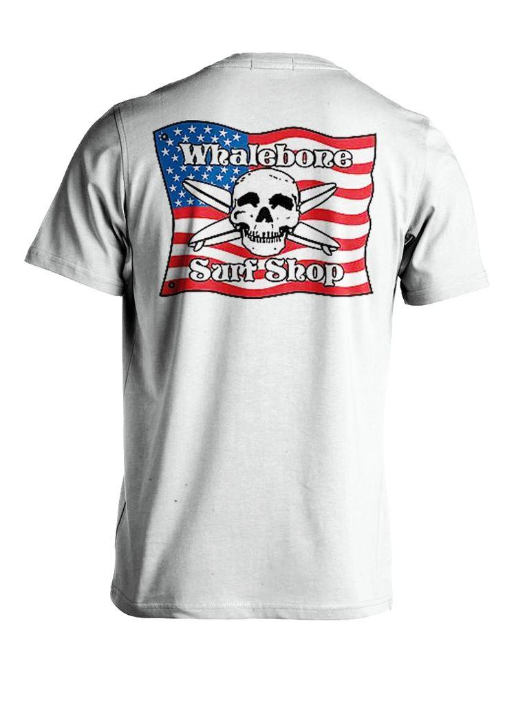 Whalebone Logo AMERICAN FLAG PREMIUM SHORT SLEEVE TEE