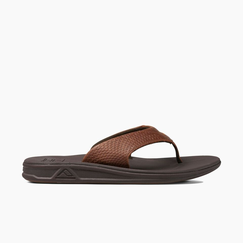 REEF REEF MENS ROVER LEATHER STRAP SANDAL