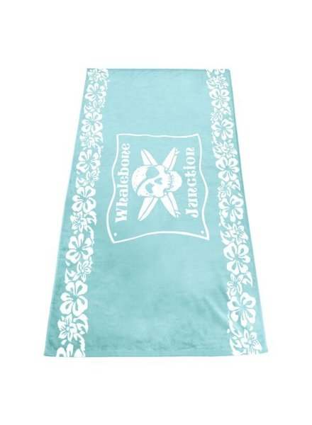 Whalebone Logo WHALEBONE JUNCTION FLORAL BAND WOVEN TOWEL 34X60