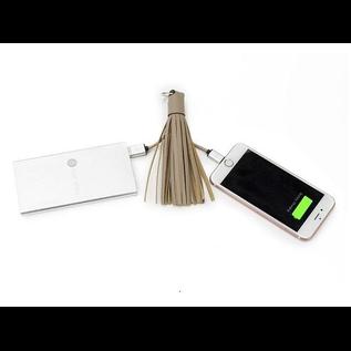 INCIPIO Incipio Chic Buds Tassel Keyring + Lightning Cable - Taupe