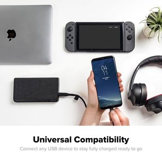 Mophie Powerstation USB-C XXL - made for the newest MacBooks, iPad Pro (USB-C) and  other devices with USB-C or USB-A connectors
