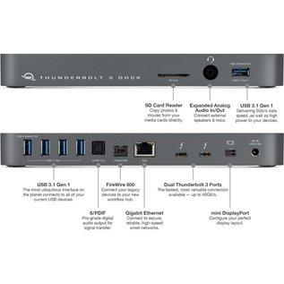 Other World Computing OWC Thunderbolt 3 Dock which features 12 Ports of connectivity