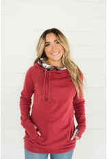 AmpersandAve DoubleHood™ Sweatshirt - Cranberry Plaid