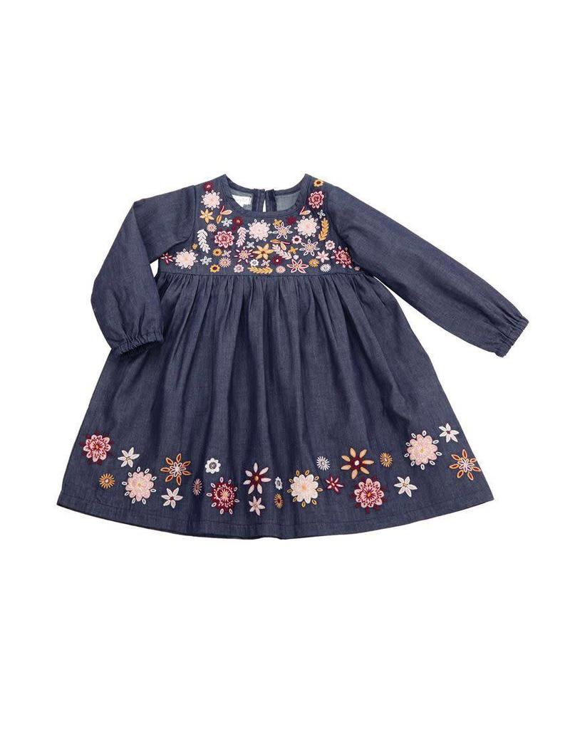 Chambray Embroidery Dress
