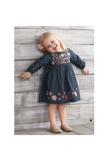Chambray Embroidery Dress  2T -5T