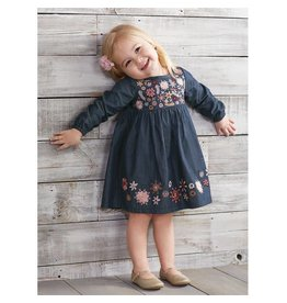 Mud Pie Chambray Embroidery Dress  2T -5T