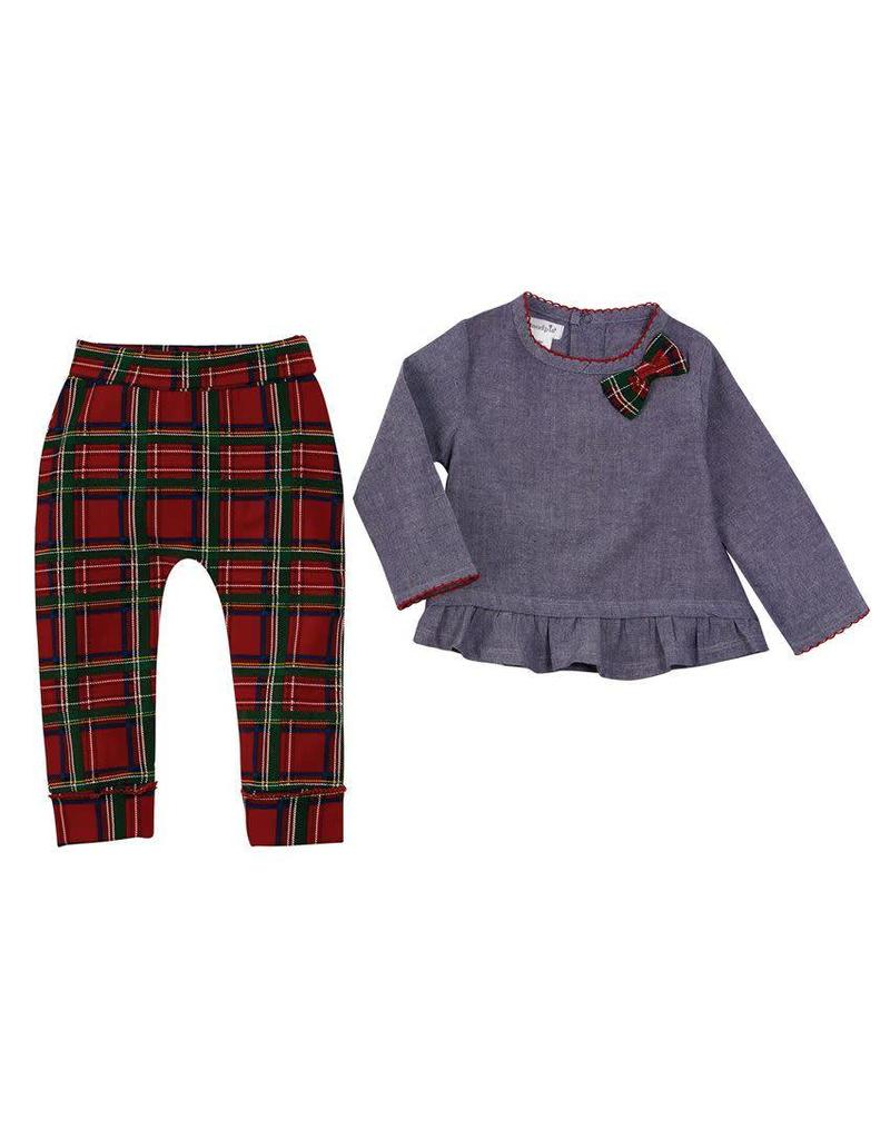 Tartan Plaid Chambray 2pc set