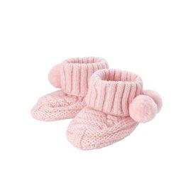 Pink Pom-Pom Knit Booties