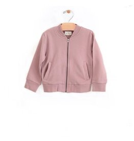 City Mouse Brushed terry bomber jacket