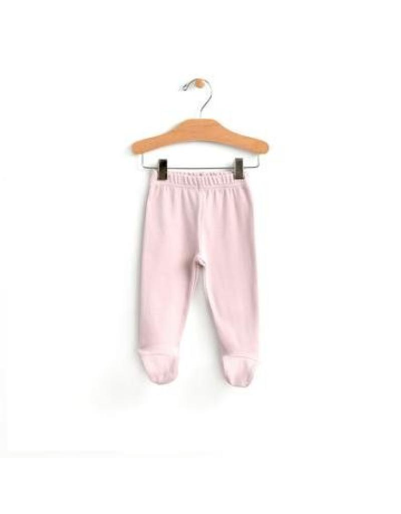 City Mouse Footed Pant Mauve Blush