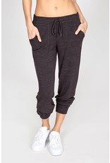 P.J. Salvage LOUNGE ESSENTIALS BANDED PANT- Smoke