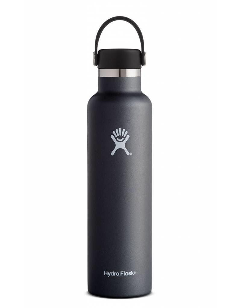 Hydro Flask HydroFlask 24OZ Standard Mouth with Flex Cap - Black