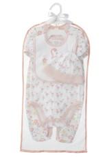 Ganz Cora Flamingo Layette Set (4 pc. set) 3-6 months