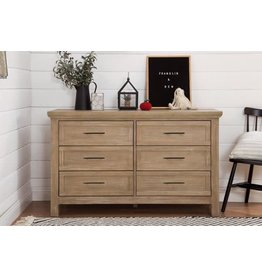 Franklin & Ben Emory Farmhouse 6 drawer Driftwood