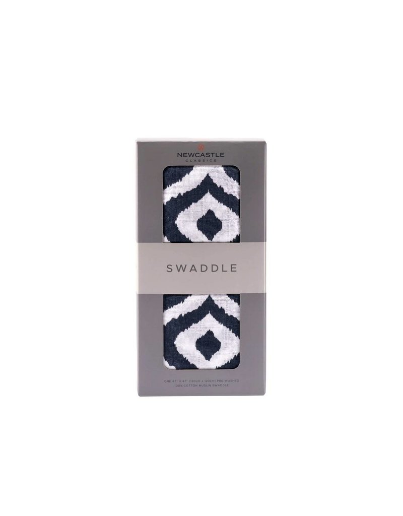 Newcastle Moroccan Blue Swaddle