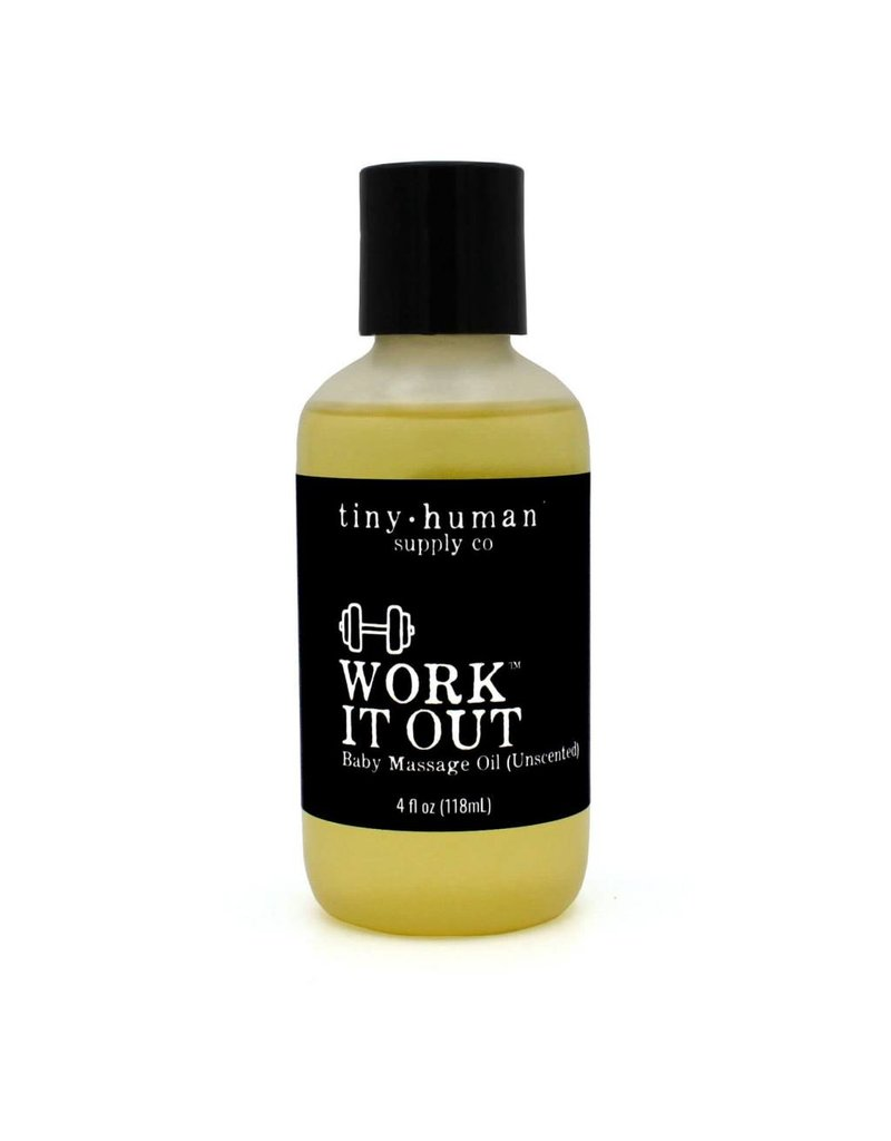 Tiny Human Supply co Work It Out Baby massage Oil (unscented)